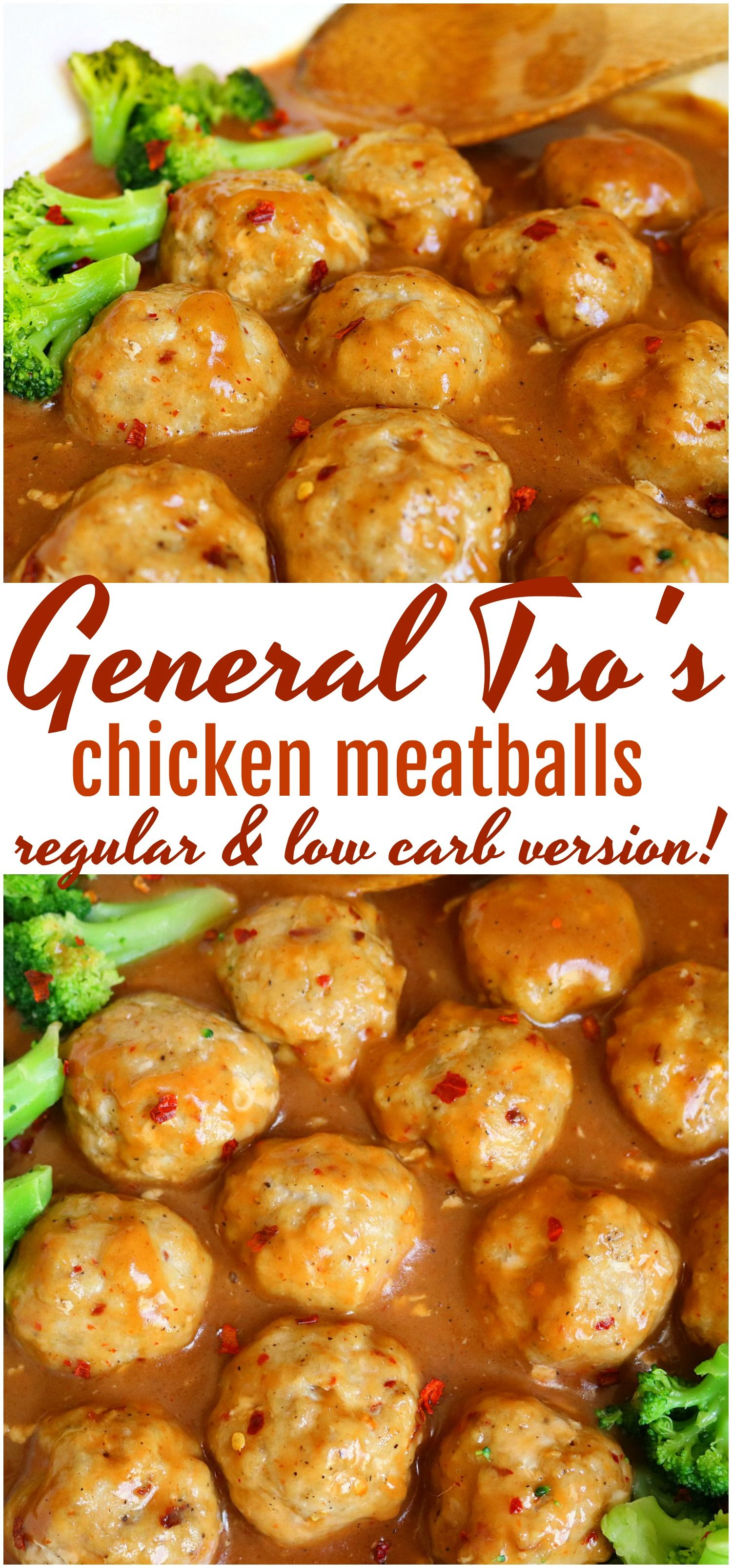 General Tso Chicken Meatballs- Regular and Low Carb Version