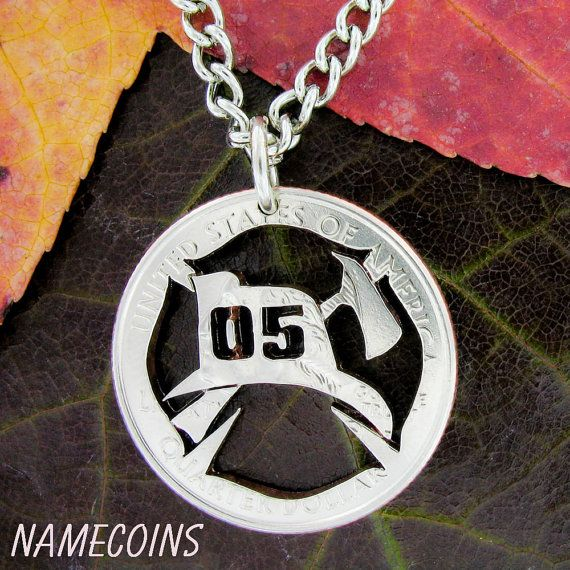 Fireman Symbol Necklace Custom Numbers Fire Fighter Gift Etsy Firefighter Wife Gifts Firefighter Gifts Fireman