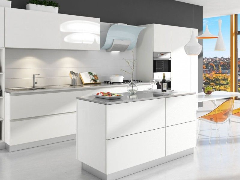 Best Sonny White Matte Rta Modern Kitchen Cabinets Cheap 400 x 300