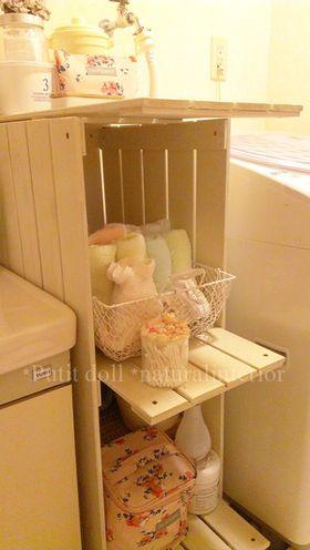 100均diyで作る棚の作り方キッチン アンティーク 塗装 賃貸 トイレ 百均
