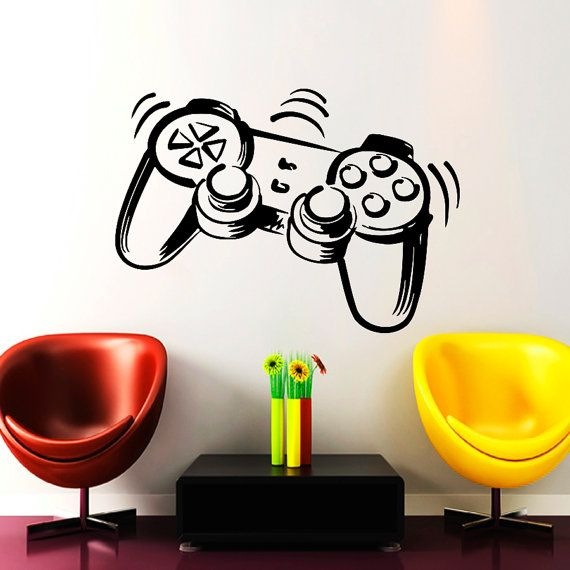 Wall Decals Game Joystick Decal Vinyl Sticker Home Decor Playing