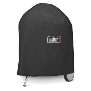 Weber One Touch Gold 26 3 4 In Premium Grill Cover 7574 The Home Depot Grill Cover Bbq Cover Weber Barbecue