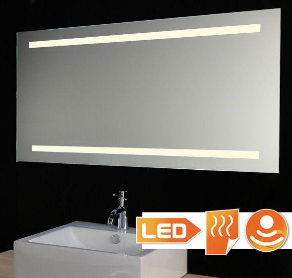 Badkamer LED spiegel met verwarming en sensor 120x60 cm | Badkamers ...