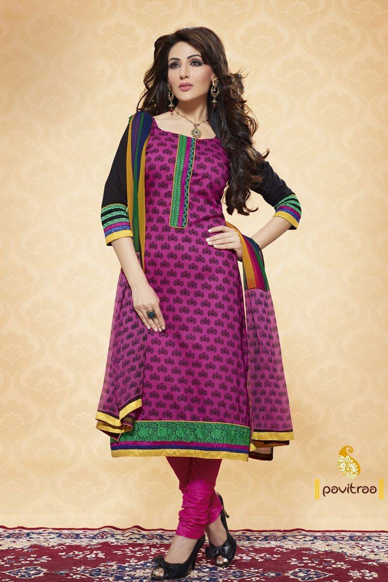 Pavitraa  Luscious Darkpink and black Salwar Kameez