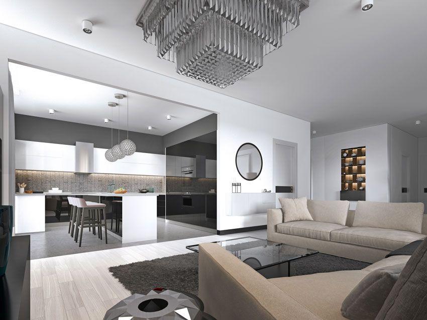 Una casa da sogno su un solo piano! Open Space 40 Idee Per Arredare Cucina E Soggiorno In Un Unico Ambiente Arredamento Moderno Cucina Arredamento Sala E Cucina Arredamento Salotto Cucina