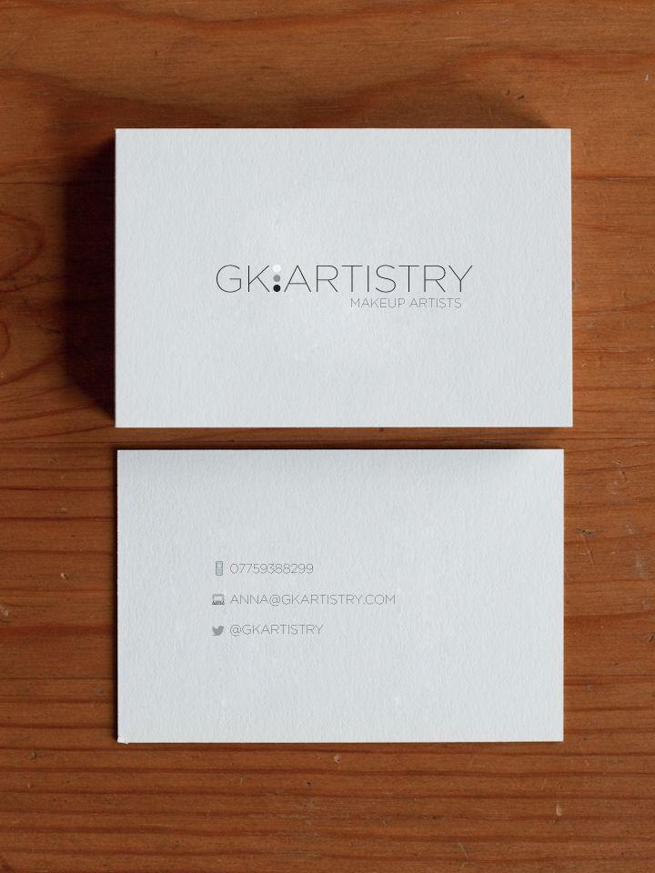 Business card for GK Artistry make up artists, find them on Facebook ...