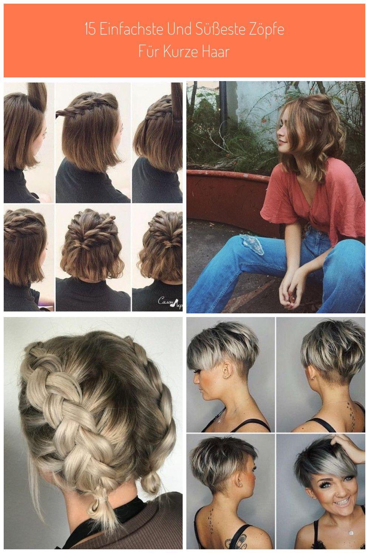 Frisuren für kurze Haare: Halber Pferdeschwanz geflochten #kurze