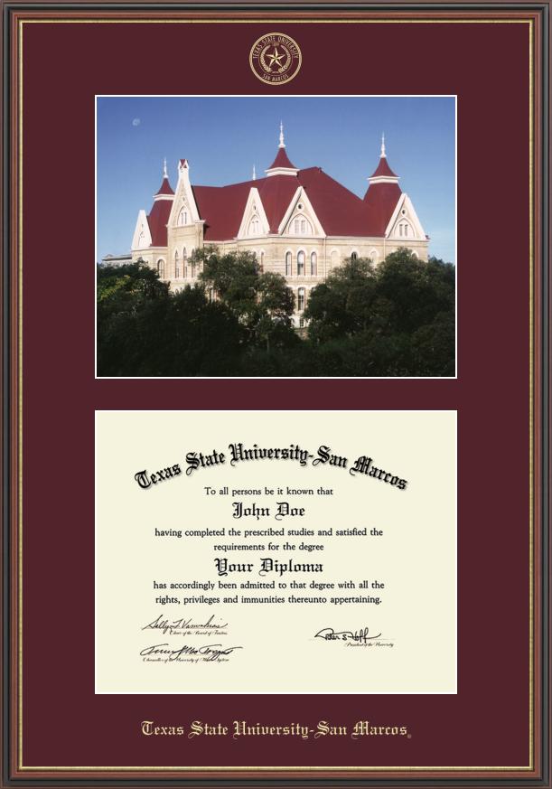 Texas State University San Marcos Diploma Frame | Texas state ...