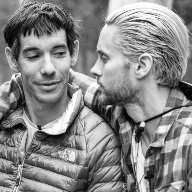 Via Jared Leto Instagram A Post Interview Snuggle With The Legendary Alexhonnold Greatwideopen Jared Leto Jared Male Man