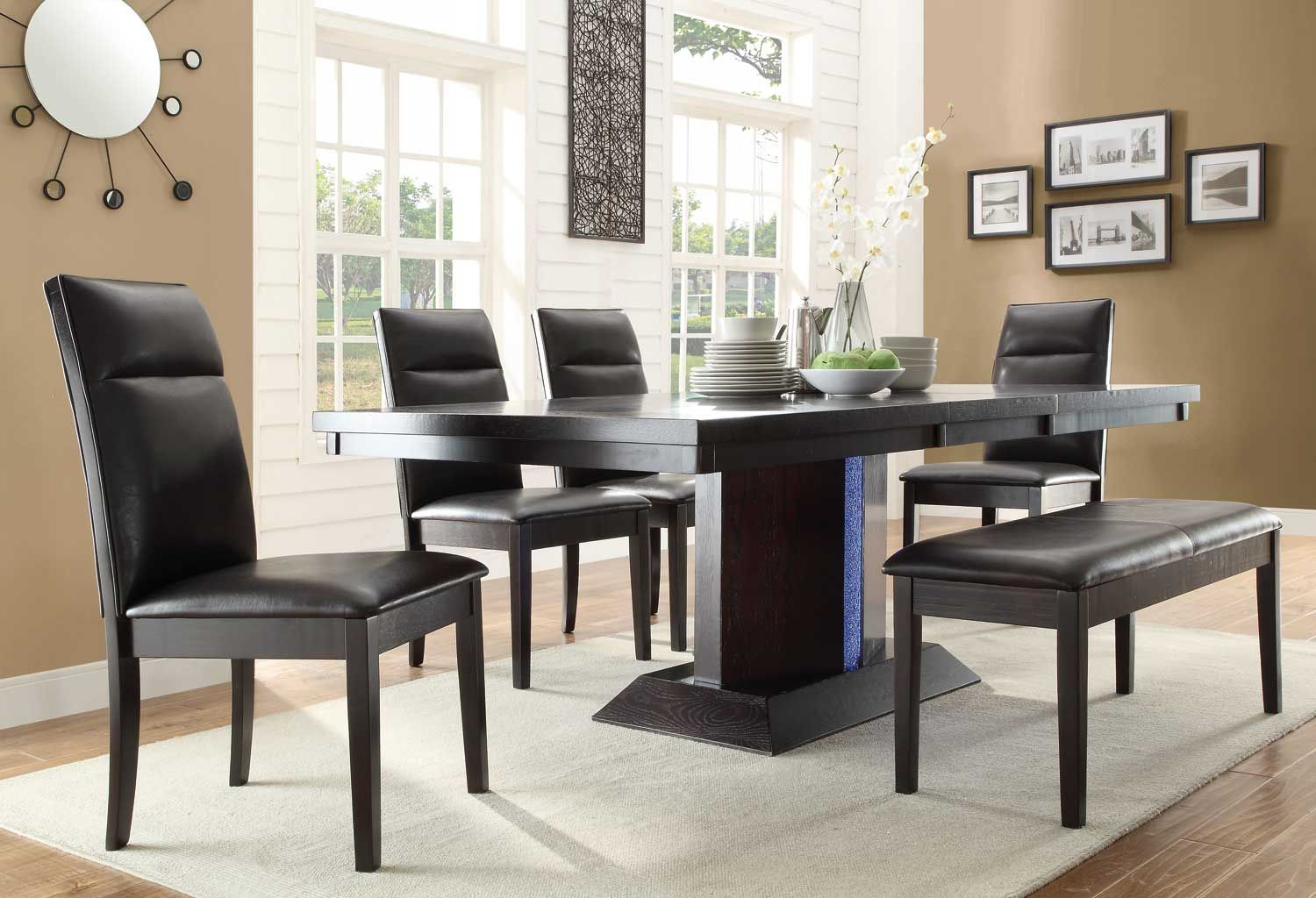 Homelegance Pulse Dining Set With Led Light  Espresso $145400 Adorable Espresso Dining Room Table Sets Decorating Inspiration