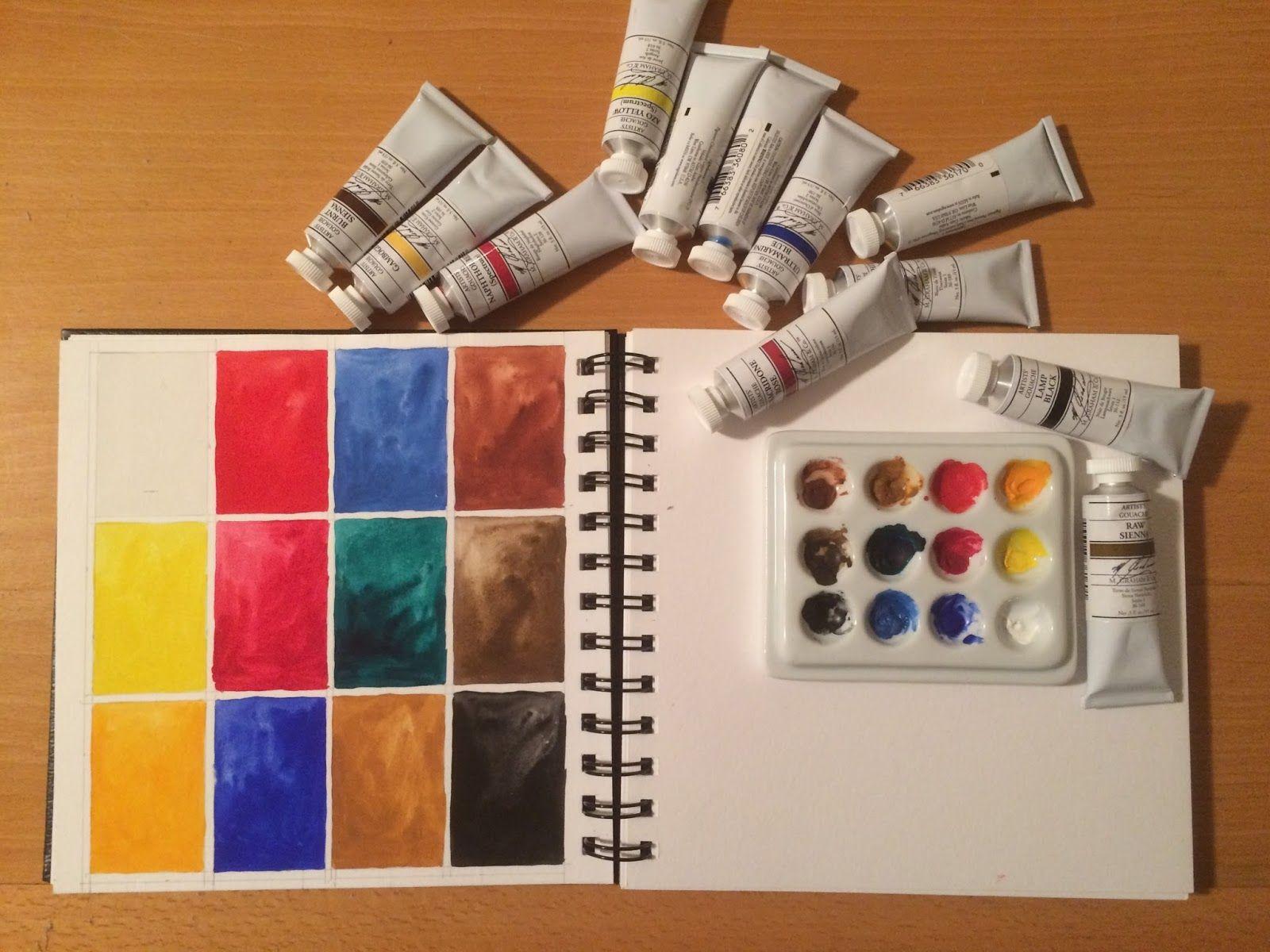 M Graham Gouache Gouache Watercolor Kit Watercolour Inspiration