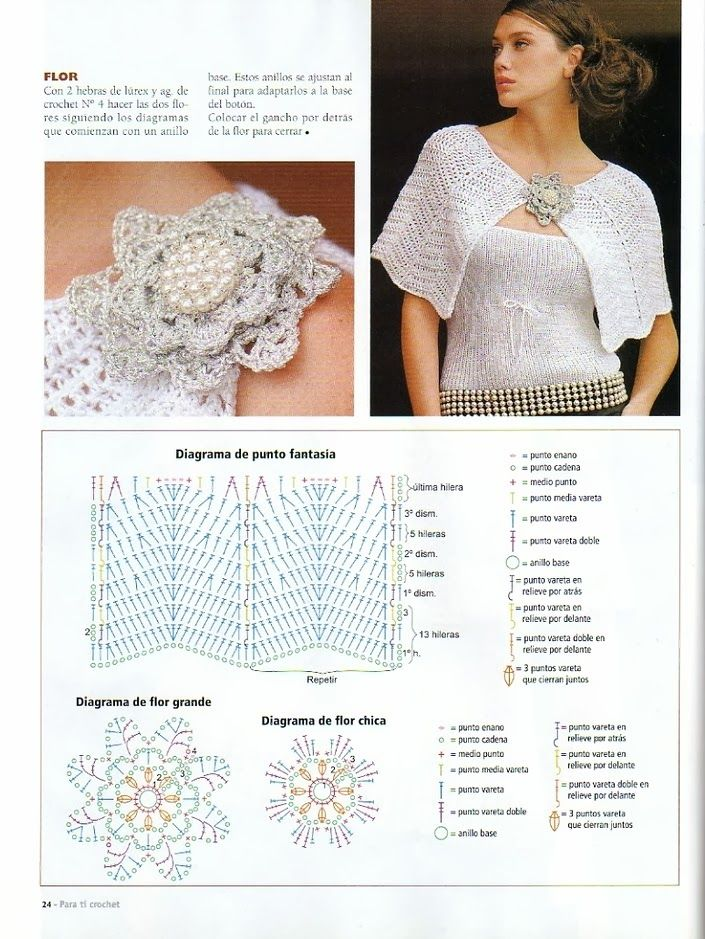 Capa y Top Conjunto Crochet-Tricot - Patrones Crochet | Knit and ...
