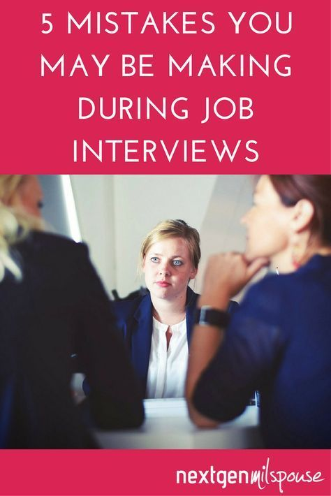 5 Mistakes You May Be Making During Job Interviews - Job interview, Job interview advice, Interview advice, Interview skills, Job interview tips, Interview help - Preparing for a job interview  Don't let these common mistakes prevent you from hearing  you're hired