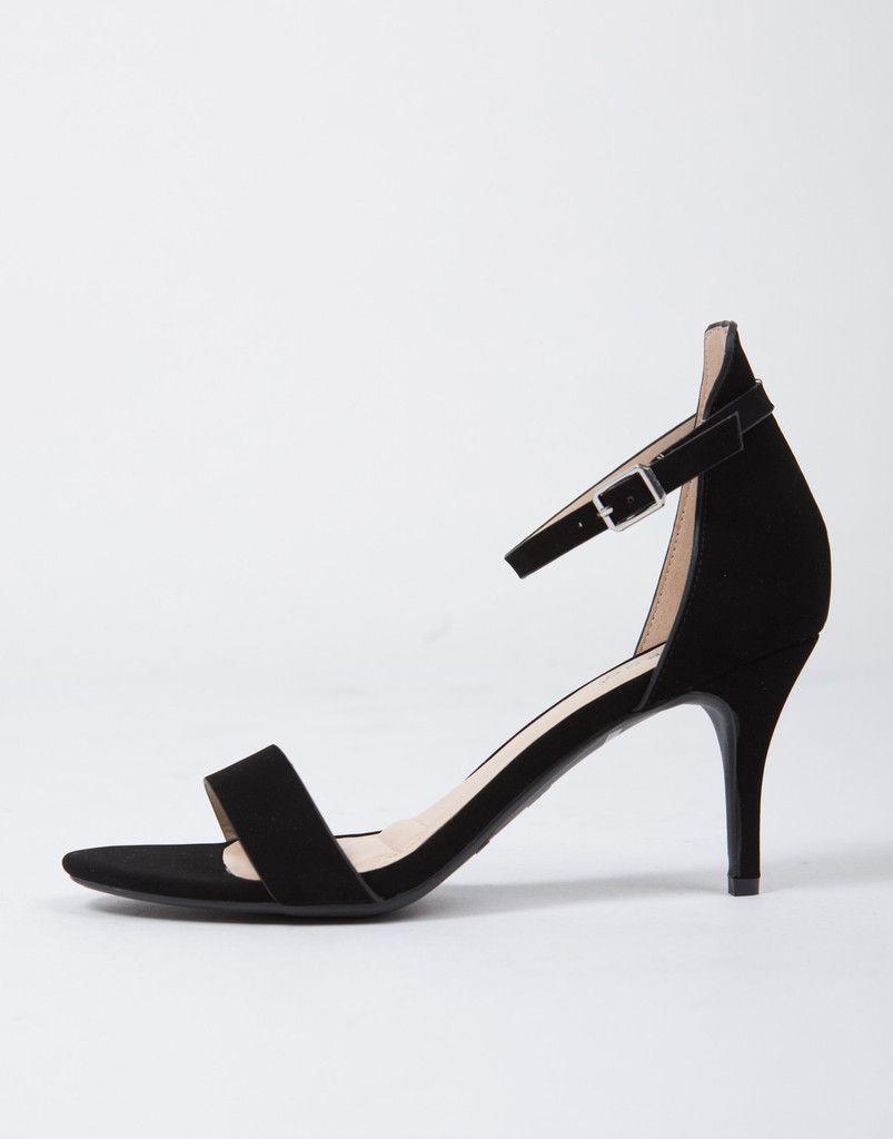 Ankle Strapped Kitten Heels Black Heels Ankle Heels Shoes
