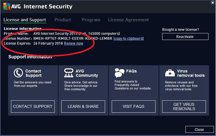 serial number avg internet security 2015