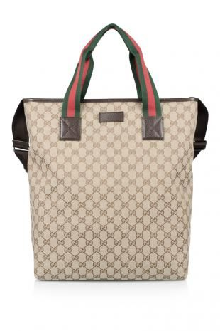 Gucci Tote with Signature Web Detail  (THB 36,409)