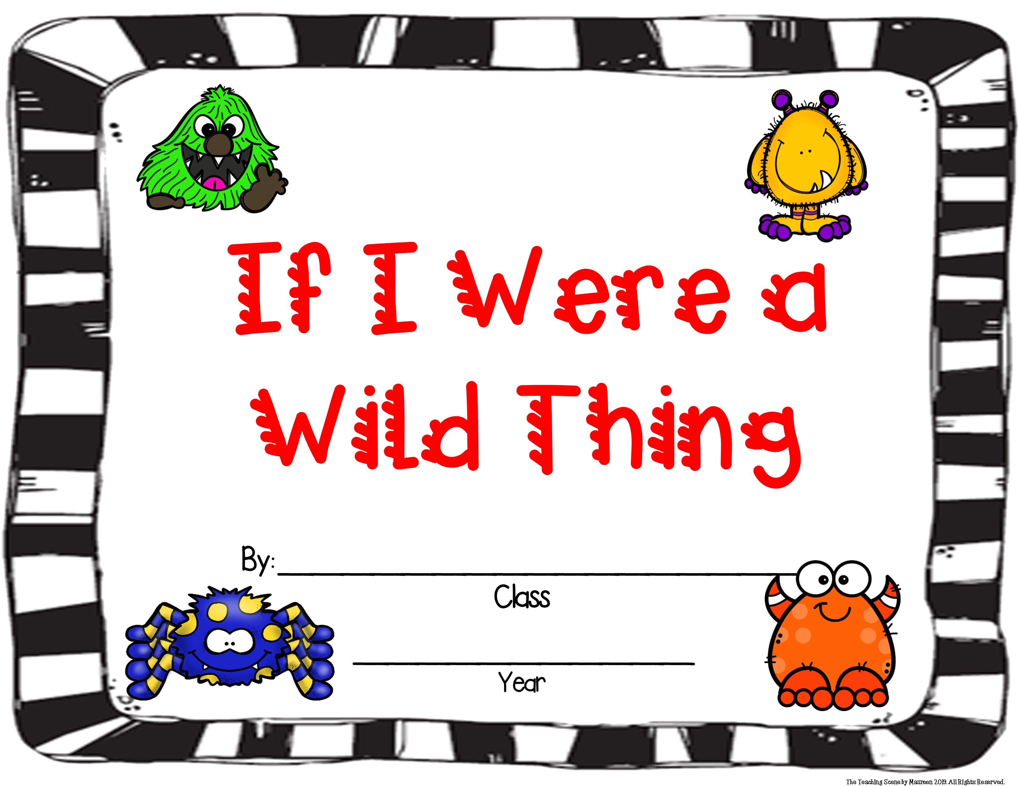 October Literacy Unit Where The Wild Things Are Amp Go Away