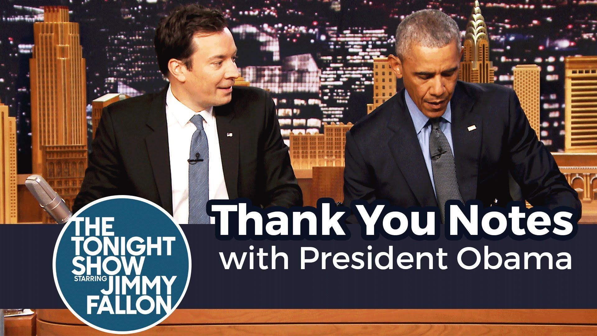 Jimmy And President Obama Write Out Thank You Notes To Congress
