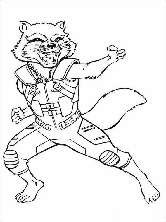 Dibujos para Colorear Guardianes de la Galaxia 39 | Dibujos para ...