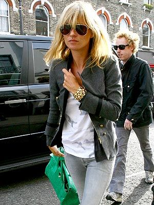 awesome jacket and jewelry (kate moss)