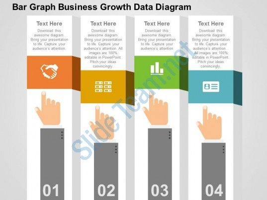 bar graph business growth data diagram flat powerpoint design ...