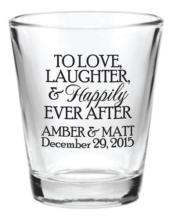 168 Wedding Favors Personalized Gl Shot Gles By