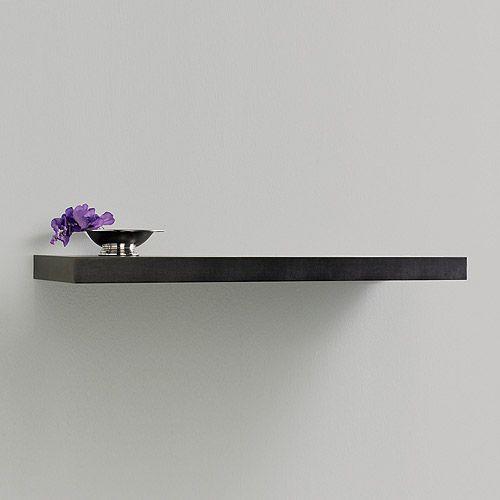 Decorative Wall Shelves Espresso : Inplace shelving quot floating wood wall shelf espresso