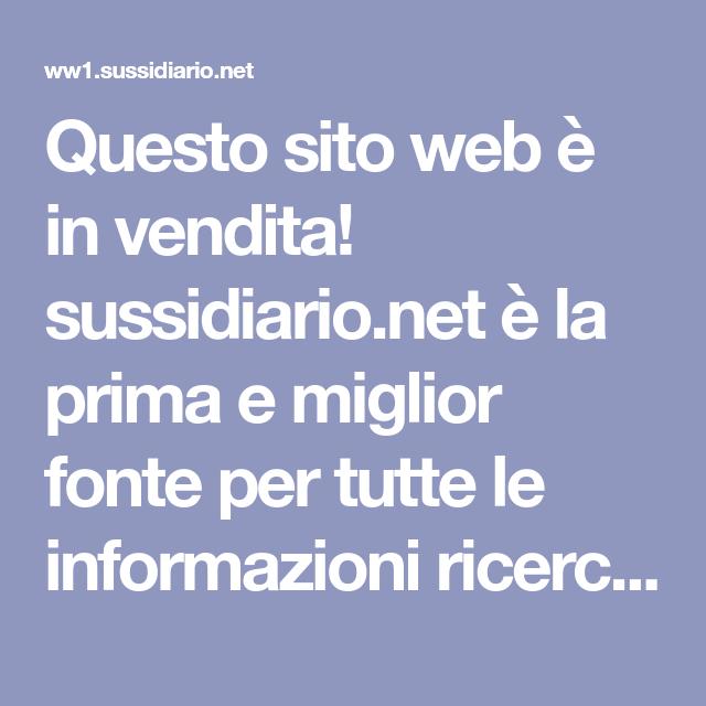 Questo Sito Web E In Vendita Sussidiario Net E La Prima E Miglior