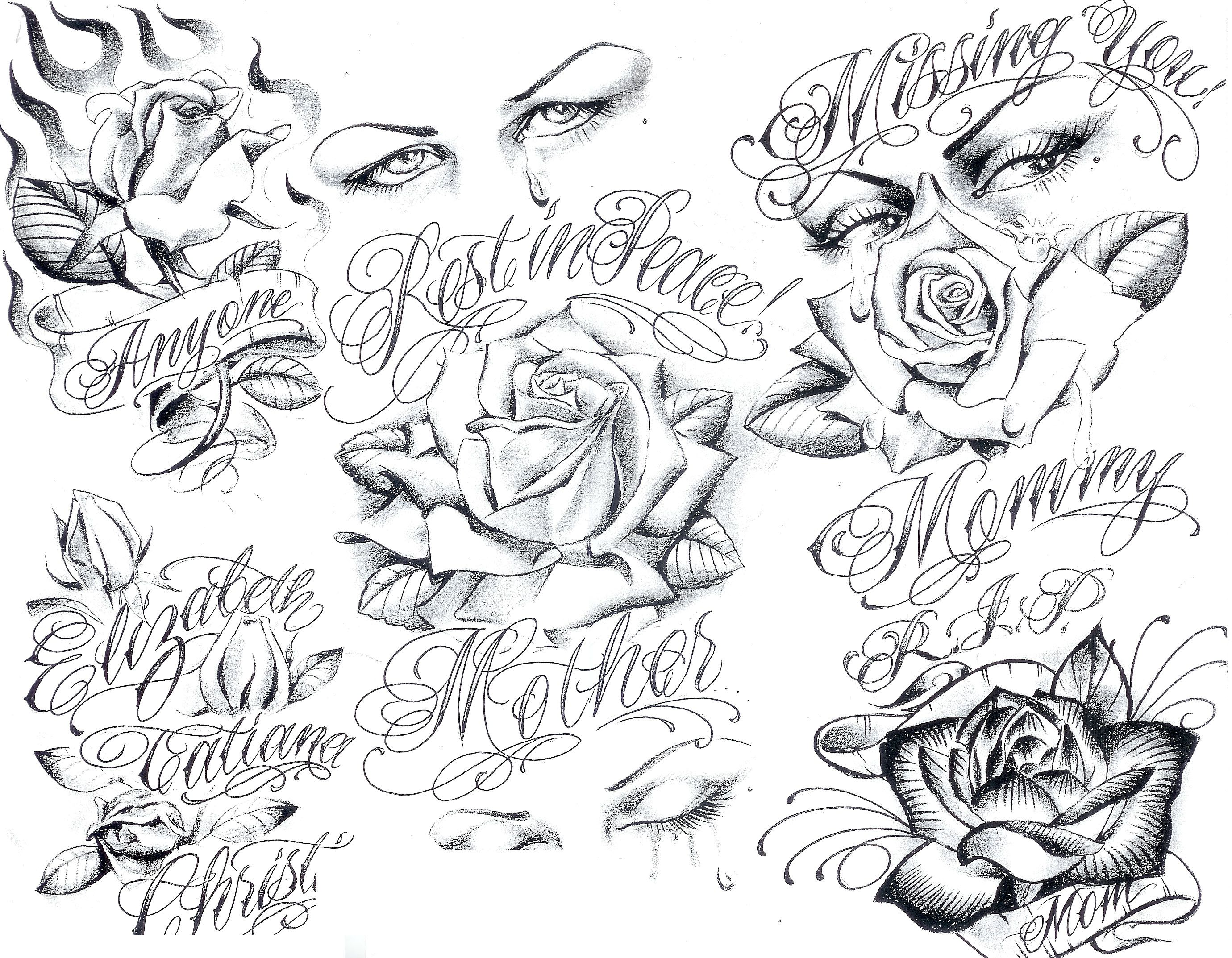 Face tattoos designs and ideas page 7 - Art Gangster Tattoo Designs Tattoo Flash By Boog 191