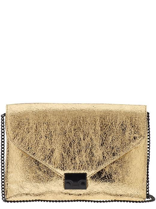 I am still obsessed with these metallic envelope clutches