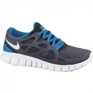 2015 Original Chaussures running Nike Free Run 2 Femme couleur grise argent et noir et bleu tiffany Soldes Pas Cher