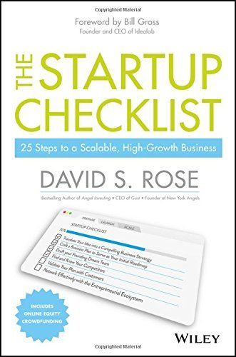 BOOK - The Startup Checklist   David Rose - Available now!   - business startup checklist