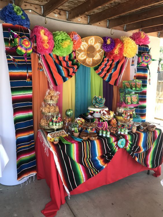 Fiesta Candy Table Mexican Theme Party Decorations Mexican