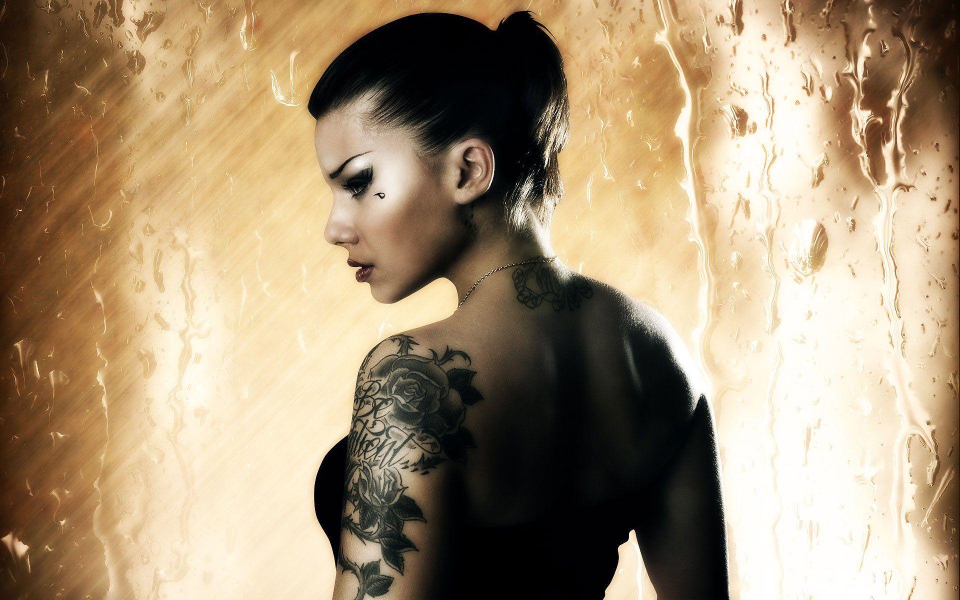 Blonde Girl Tattoos HD desktop wallpaper High Definition