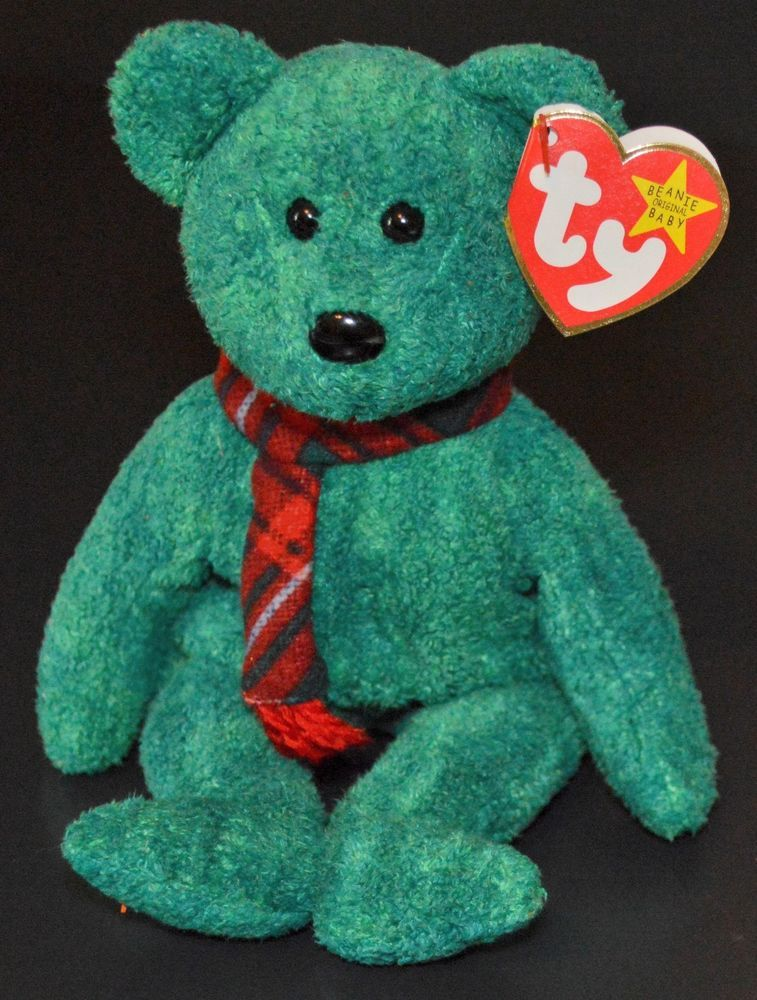 Wallace the  Bear Beanie Baby by TY Rare MWMT Retired No Loop Tag 1999  Original  Ty a5d6922e777