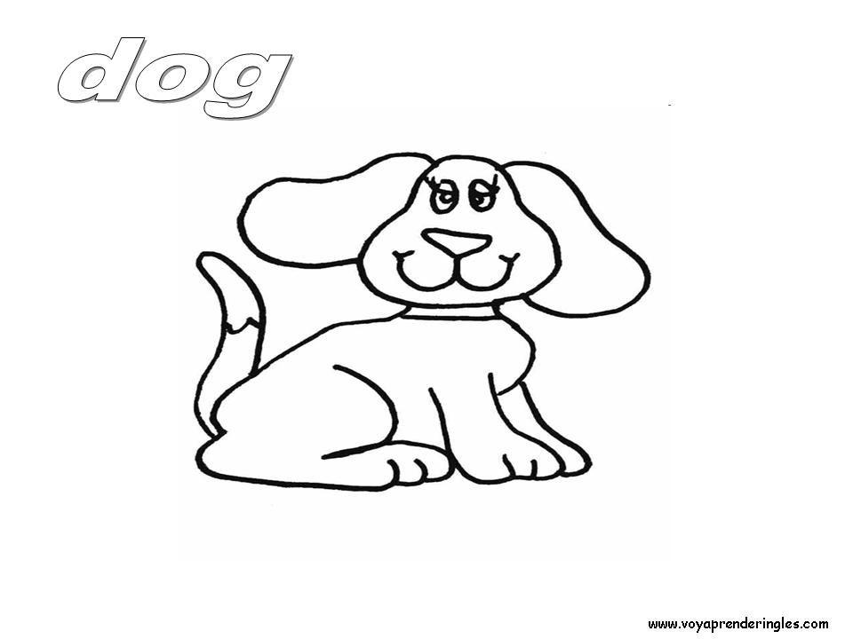 Voy Aprender Ingles 05 Laminas Para Colorear En Ingles Animales Coloring Pages Animals Animalitos Para Colorear Alfabeto Para Imprimir Dibujos
