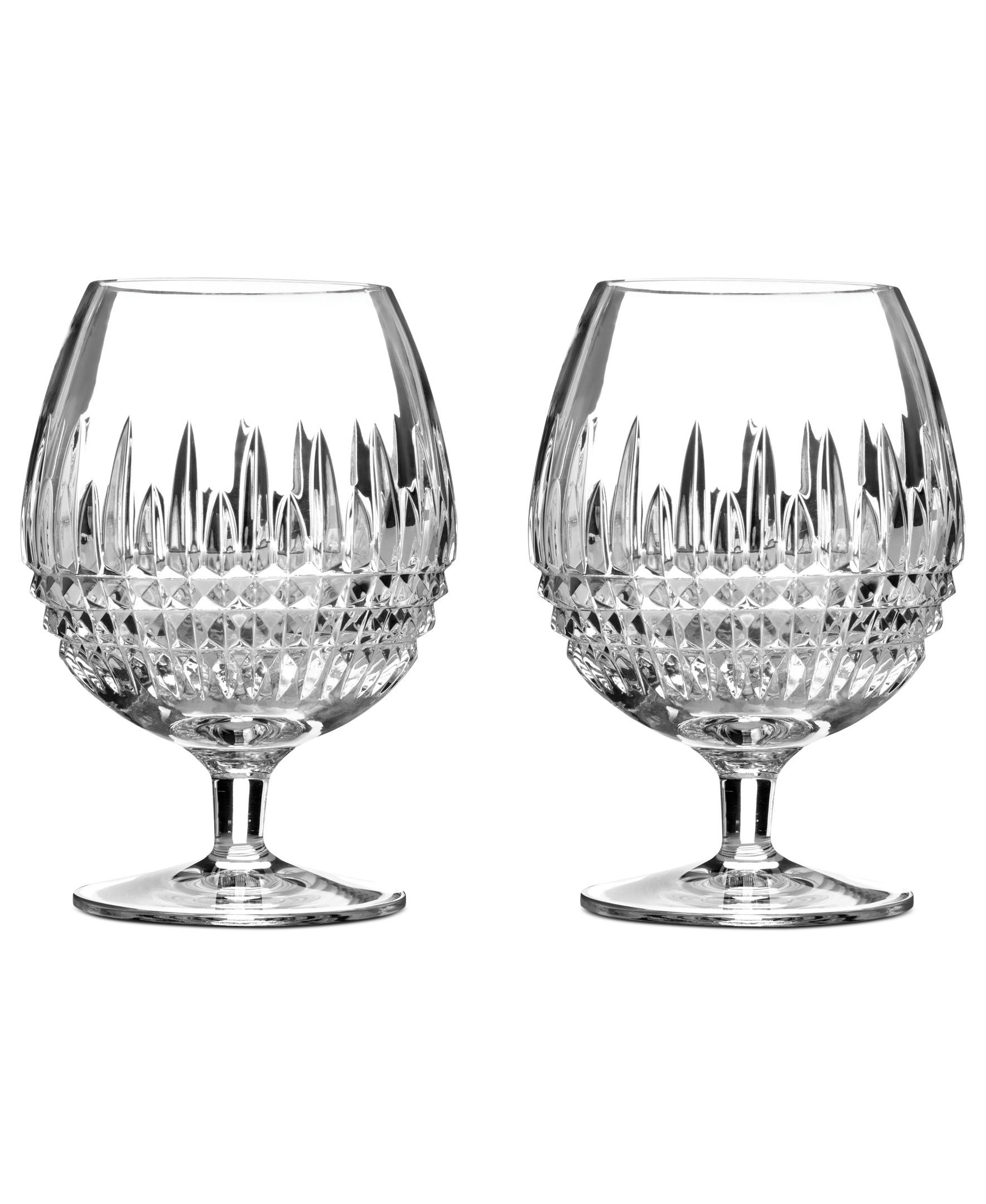 Superior Crafted For A Lifetime Of Fine Dining, Lismore Diamond Brandy Glasses  Balance An Intricate Cut