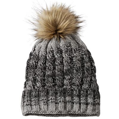 6e6a1332 Timberland Chunky Faux Fur Pom Beanie Light Grey Heather Spring Hats, Fall  Hats, Summer