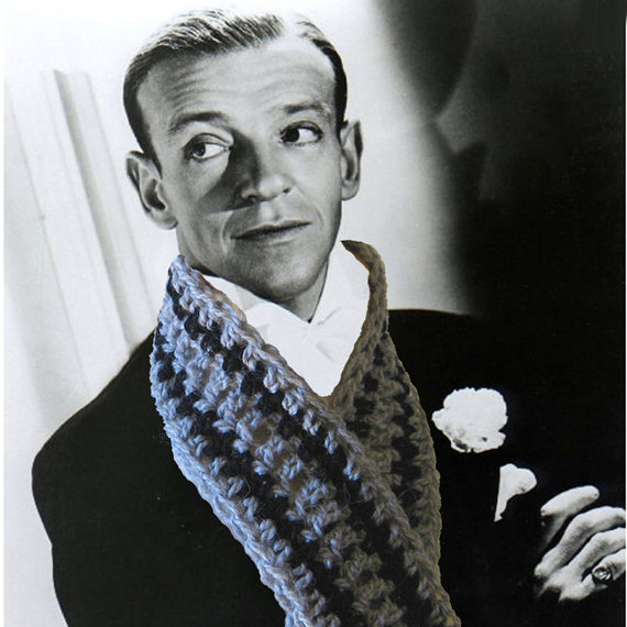Crochet PATTERN Fred Astaire Scarf - Fast Easy Unisex DIY Instant ...