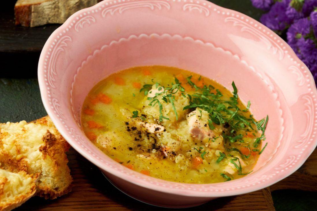 Суп с чечевицей и лососем | Рецепт | Супы, Чечевица и ...