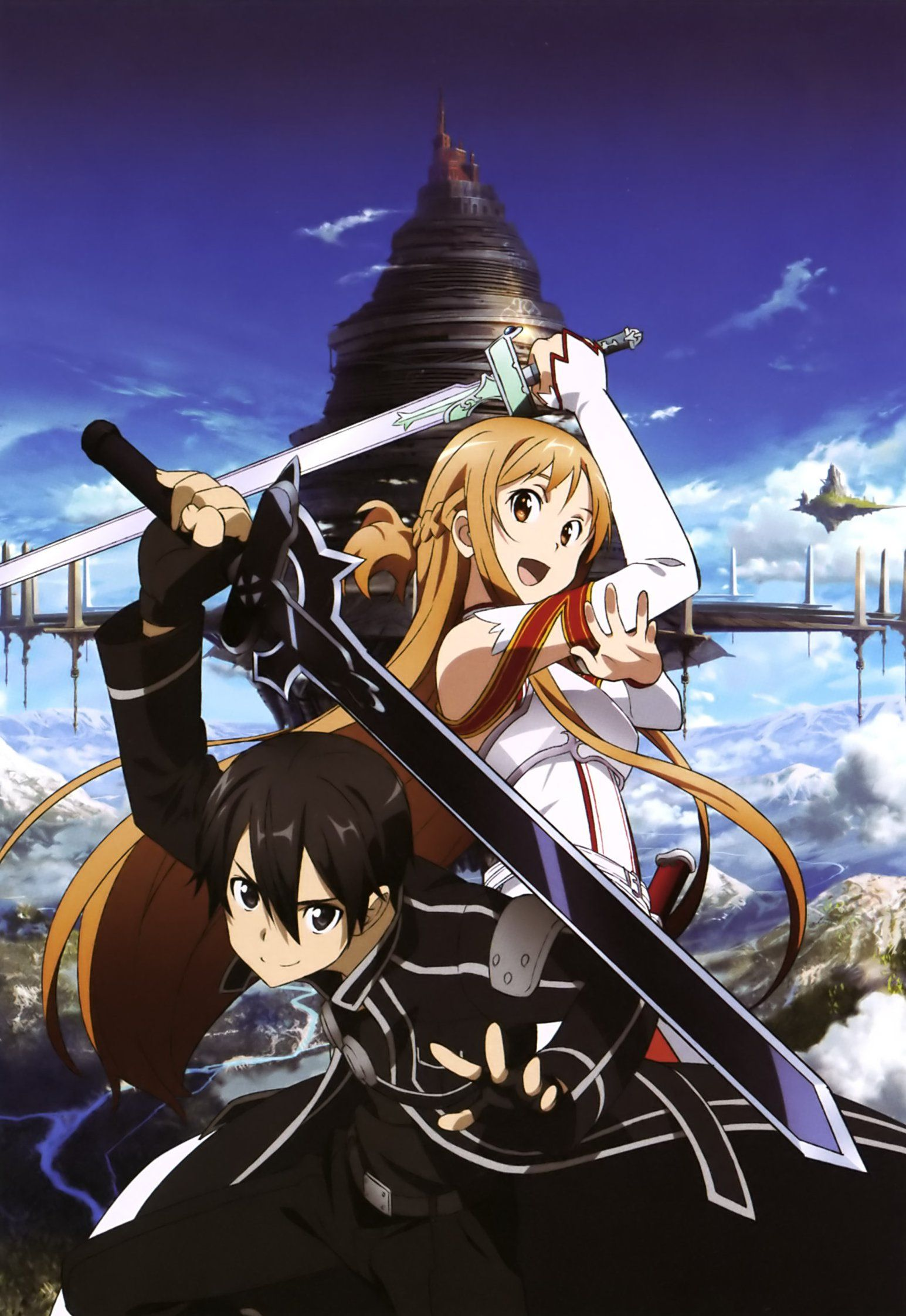 Sword Art Online, Kirito + Asuna, official art Anime