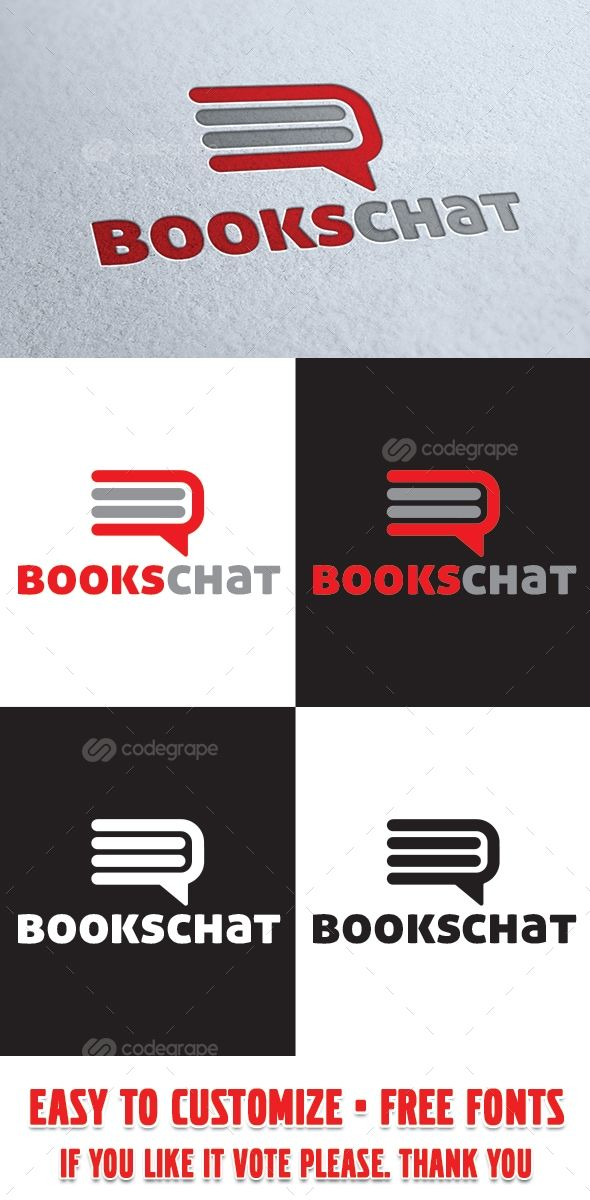 Books Chat Logo Template - http://www.codegrape.com/item/books-chat-logo-template/8133
