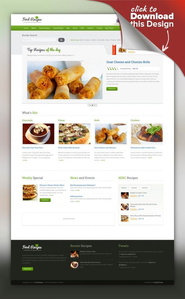 Food recipes wordpress theme forumfinder