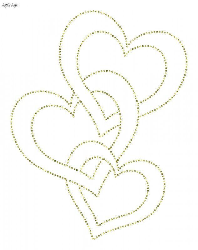 hart hartjes liefde valentijn glittermotifs craft ideas arte con hilo cuadros con hilos. Black Bedroom Furniture Sets. Home Design Ideas