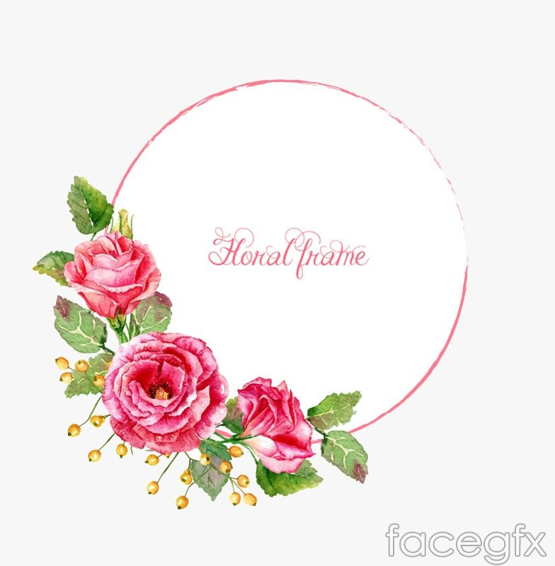 Watercolor Flower Frame Vector For Free Download