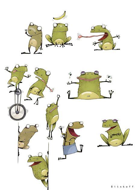 Friendly characters by Aleksei Bitskoff, via Behance