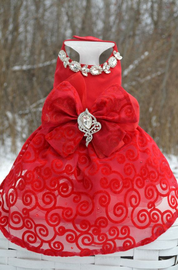 ❁༺ ❤ ༻❁༺ Dog Harness Dress Red Bling Patriotic Valentines ...