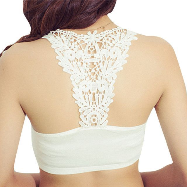 Hot 2016 New Women Ladies Sexy Floral Lace Mesh Patchwork Crop Top Blusas Fitness Crochet Bralet Bralette Bustier Tank Top
