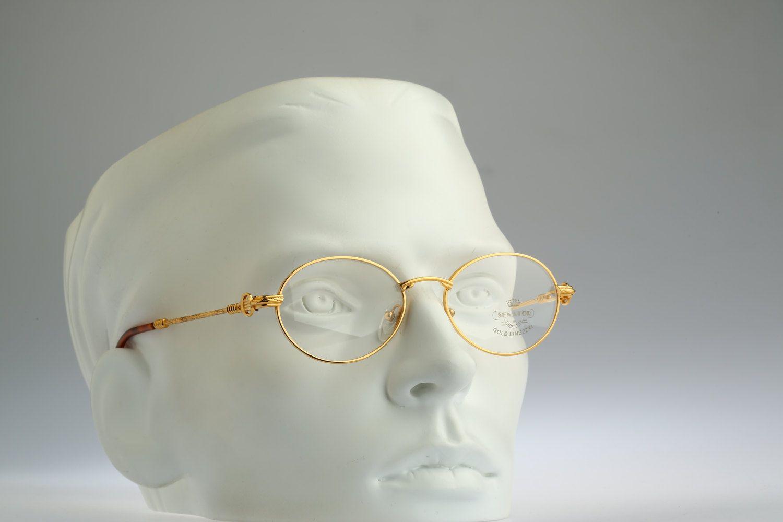 97dc291a1145 Reserved for Hakeem Jones   Senator lunettes Mod Gold19 GP22KT   Rare NOS  90s vintage eyeglasses by CarettaVintage on Etsy