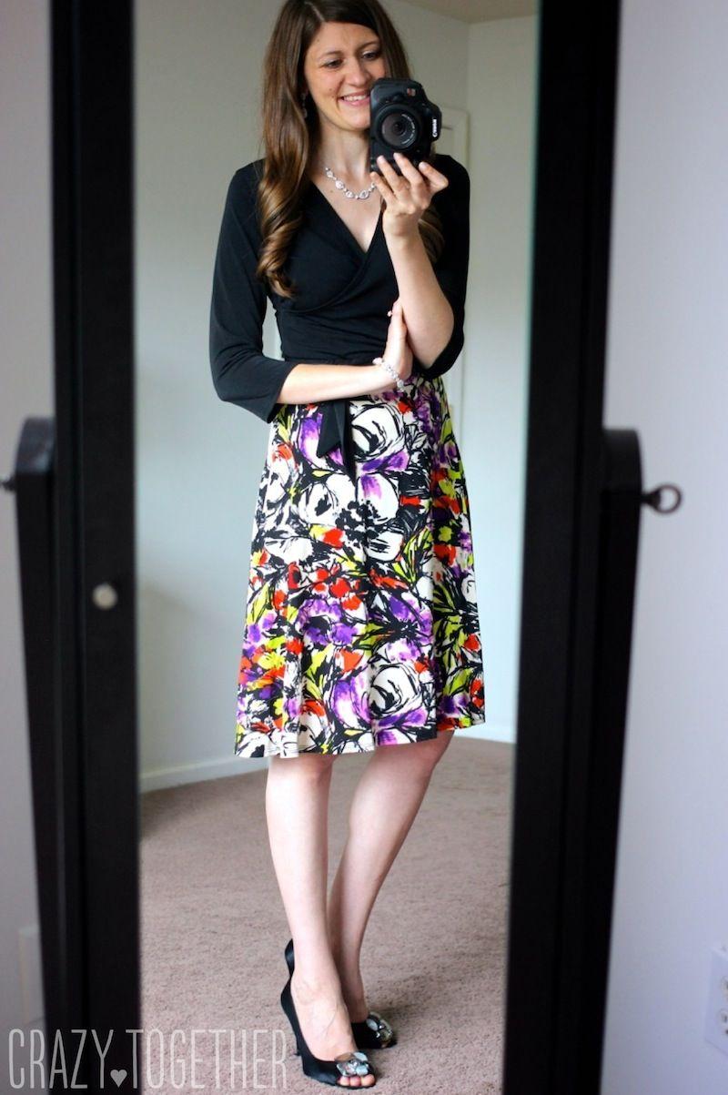 black Amandine Faux Wrap Dress by Leota - Stitch Fix Such a flattering dress!  I